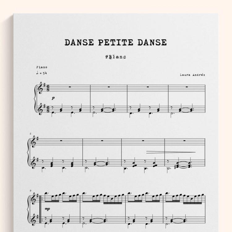 Danse petite, Danse - Partitura